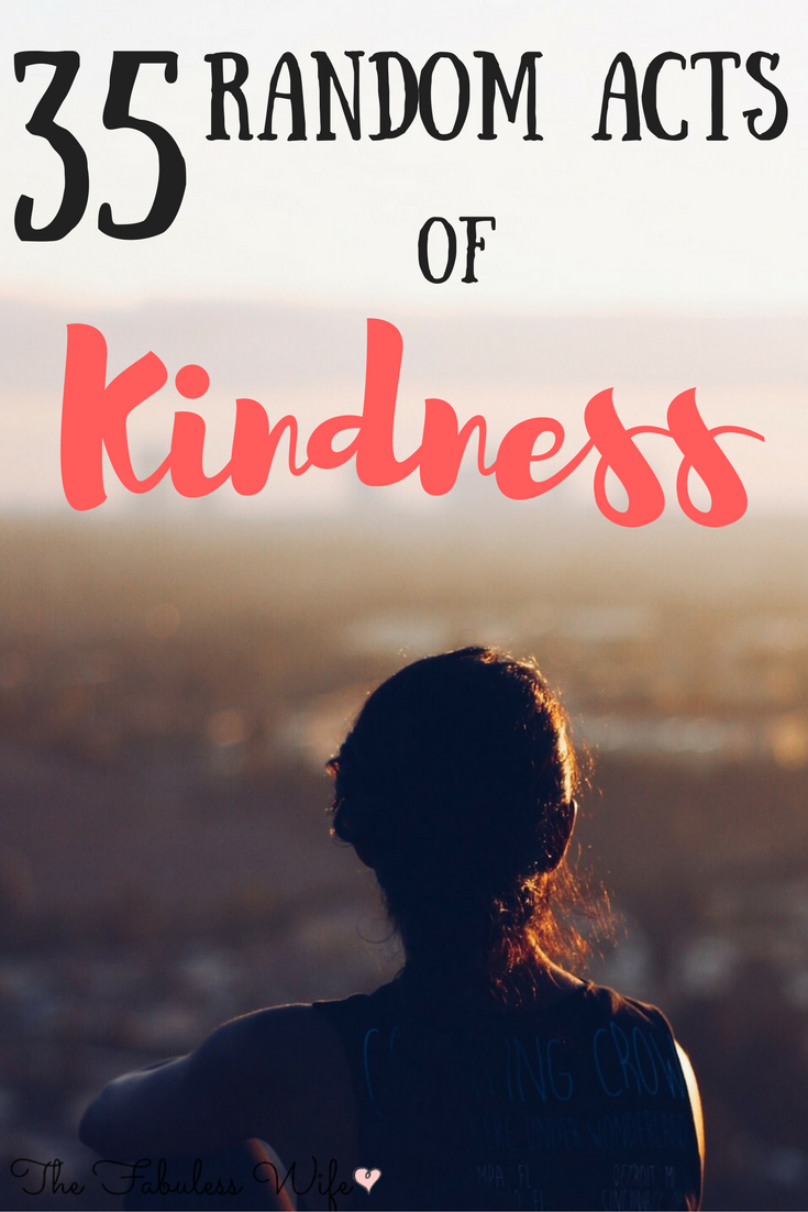 35 Random Acts of Kindness that Won't Break the Bank
