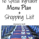 THM No Special Ingredient Menu Plan + Shopping List! (Jan 2018!)