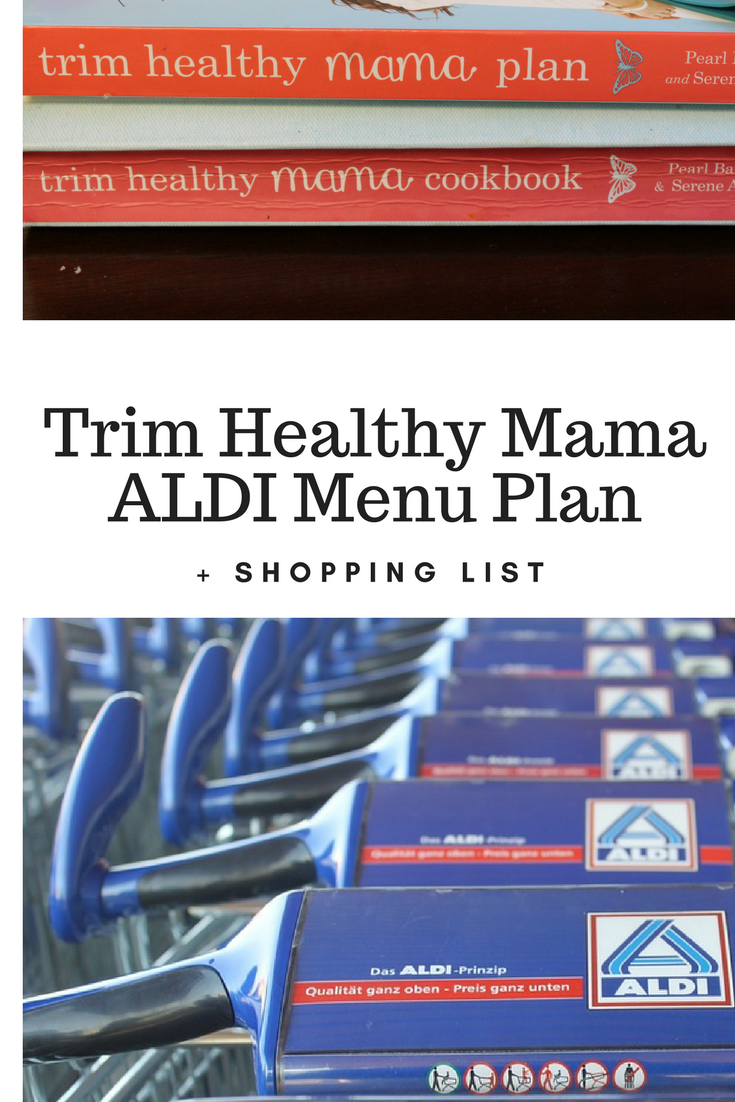 It is a graphic of Zany Trim Healthy Mama Menu Plans