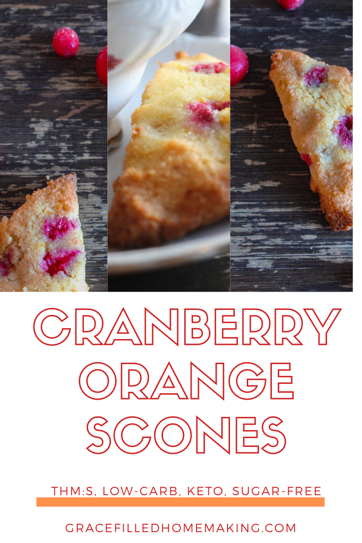 These Cranberry Orange Scones are the perfect way to bring the coffee shop to you! They're low-carb, keto, and Trim Healthy Mama S.