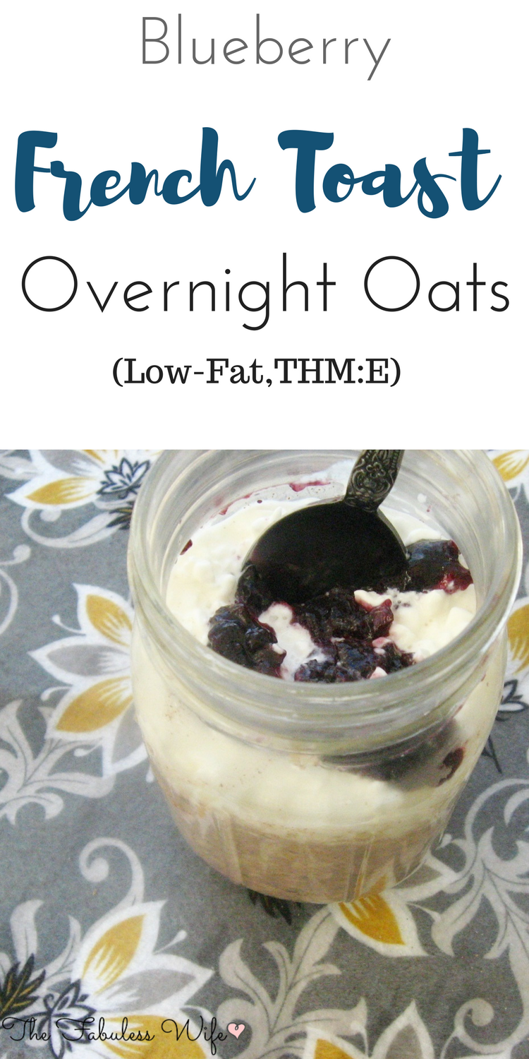 Blueberry French Toast Overnight Oats