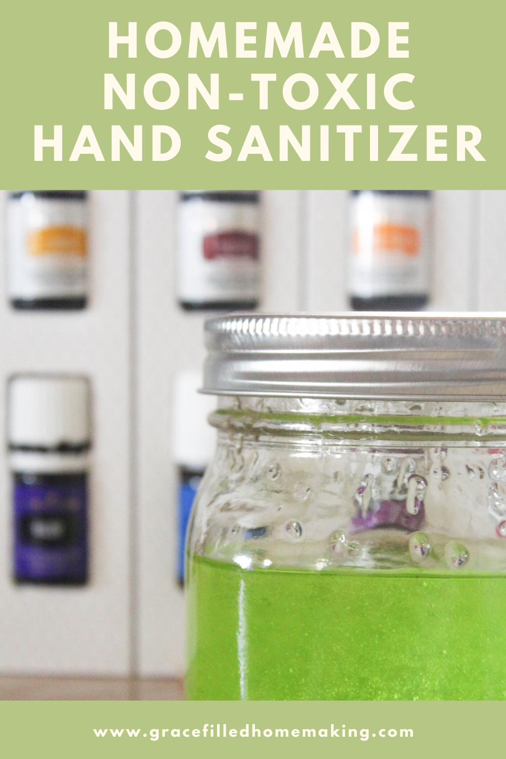 My Homemade Hand Sanitizer is frugal, non-toxic, and needs just four ingredients. It takes just a few minutes to make and smells great!