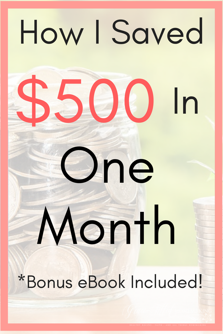 8 Things I Did to Save $500 in One Month