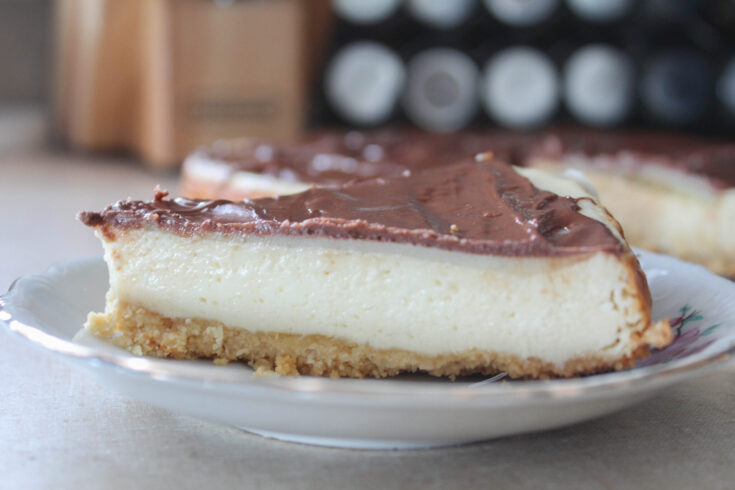 Twix Cheesecake (THM:S, Low-Carb, Sugar-Free)