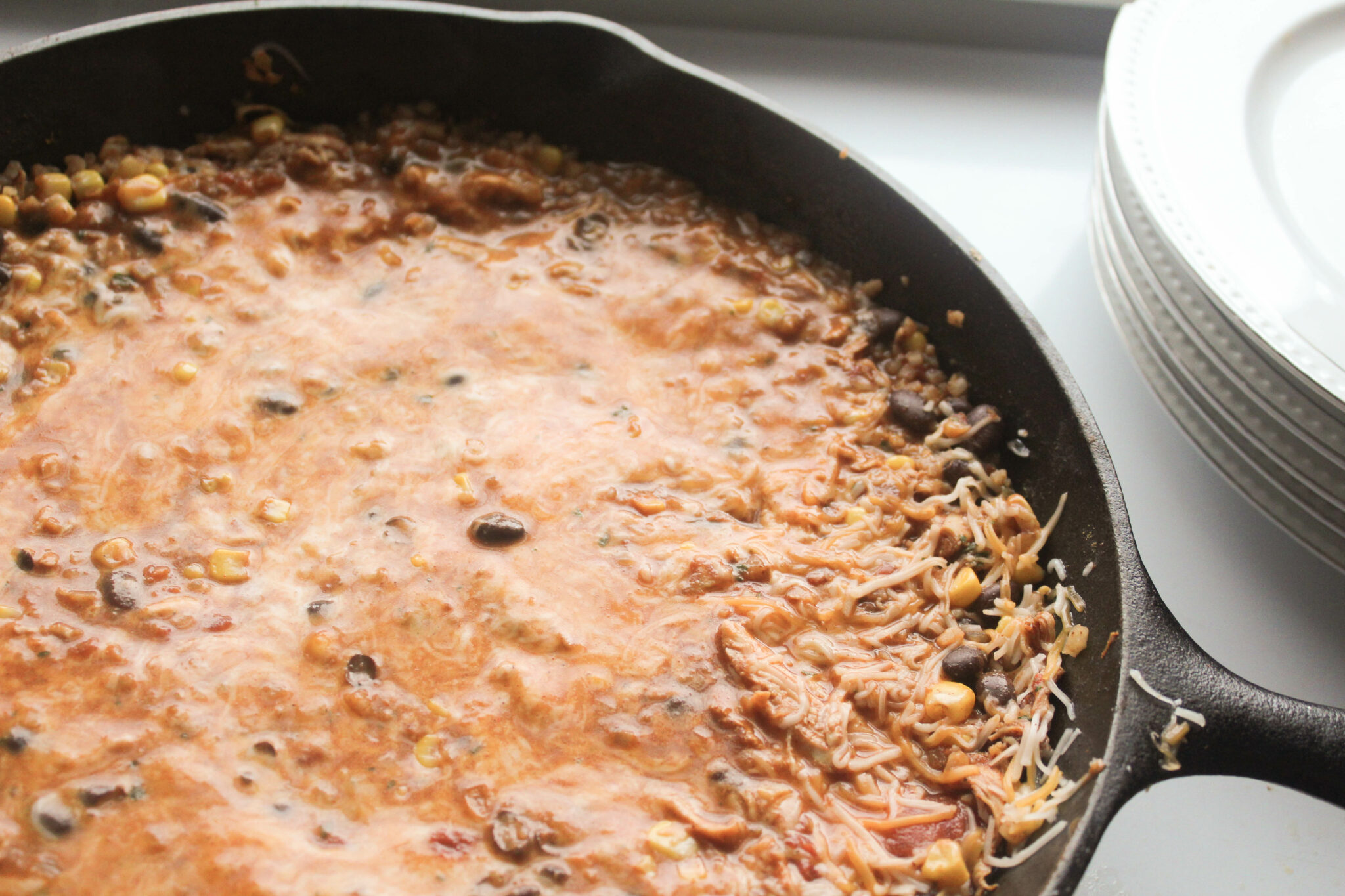 Chicken Ranch Taco Skillet (THM:S, Low-Carb Option, Sugar-Free)