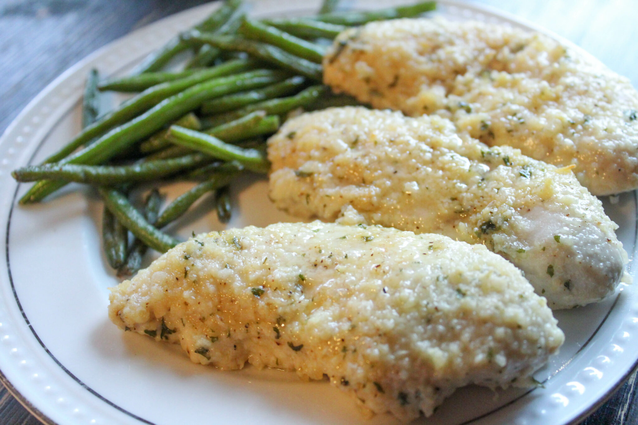 My Parmesan Ranch Chicken Tenders are a family-friendly dinner that's sure to be a new favorite! This juicy, low-carb meal is easy to make.
