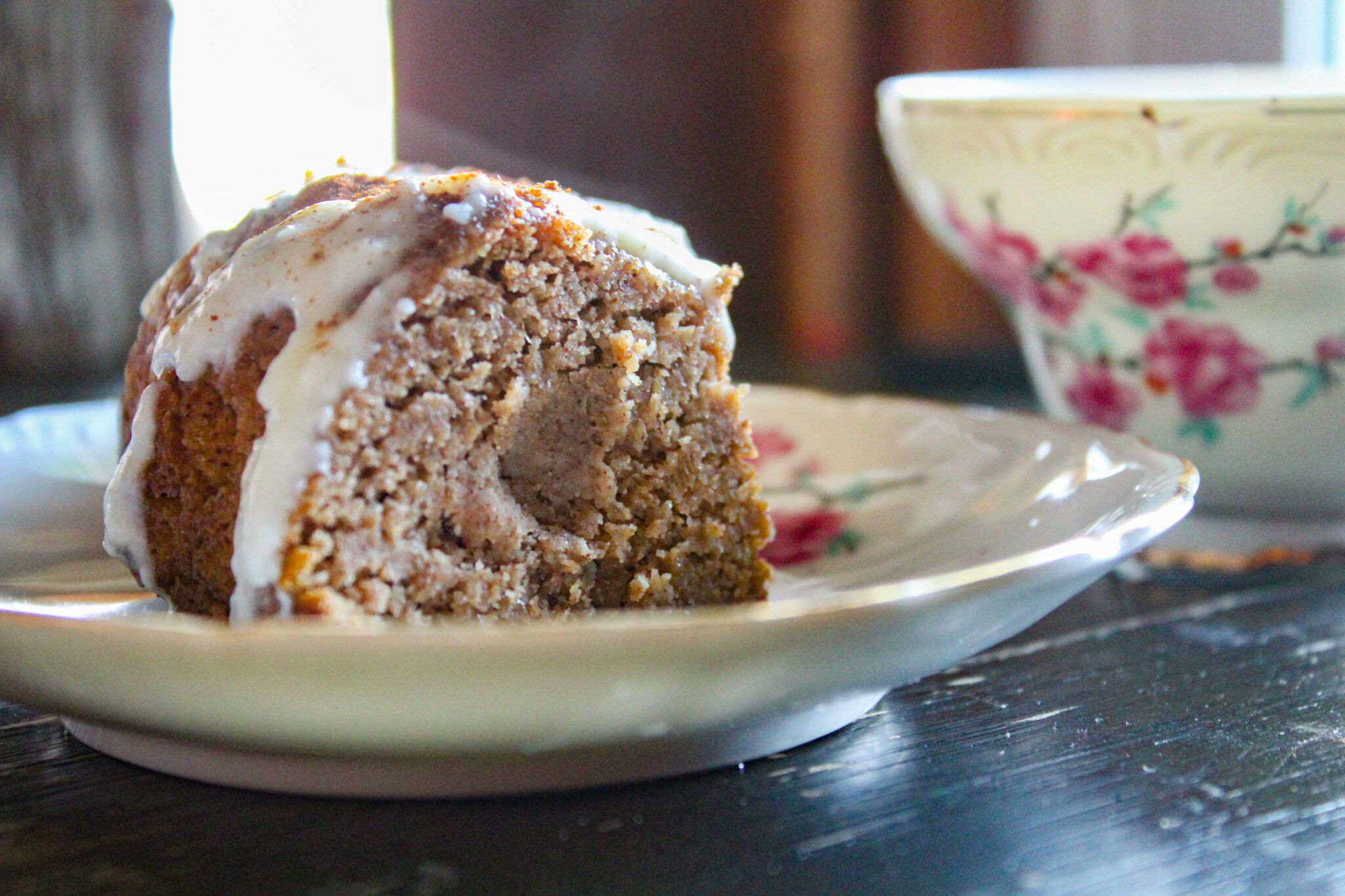 My Pumpkin Spice Coffee Cake is the perfect Fall treat! A perfectly spiced cake topped with a creamy glaze. What could be better?