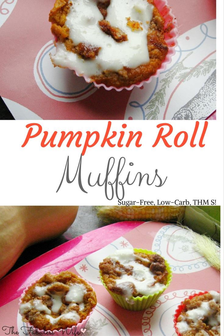 Pumpkin Roll Muffins