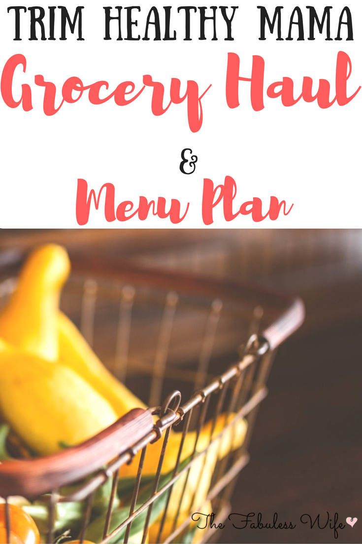 picture regarding Trim Healthy Mama Printable Food List known as THM Grocery Haul and Menu Program! - Grace-Crammed Homemaking