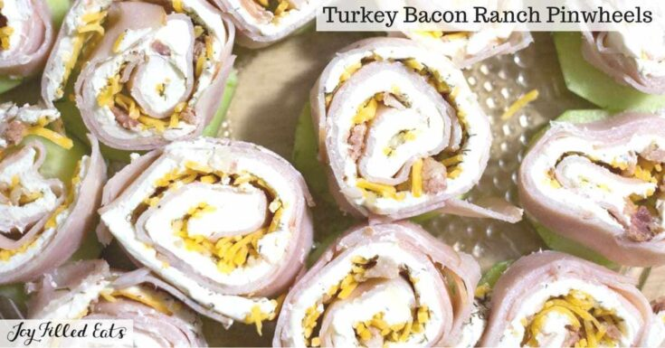 Turkey Bacon Ranch Pinwheels - Low Carb, Keto, THM S
